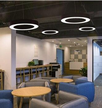 ĐÈN LED mới đèn Văn Phòng Hiện Đại Vòng LED hiện đại Ốp Trần Văn phòng thể dục phòng khách tiền sảnh ăn phòng triển lãm Xây Dựng đèn