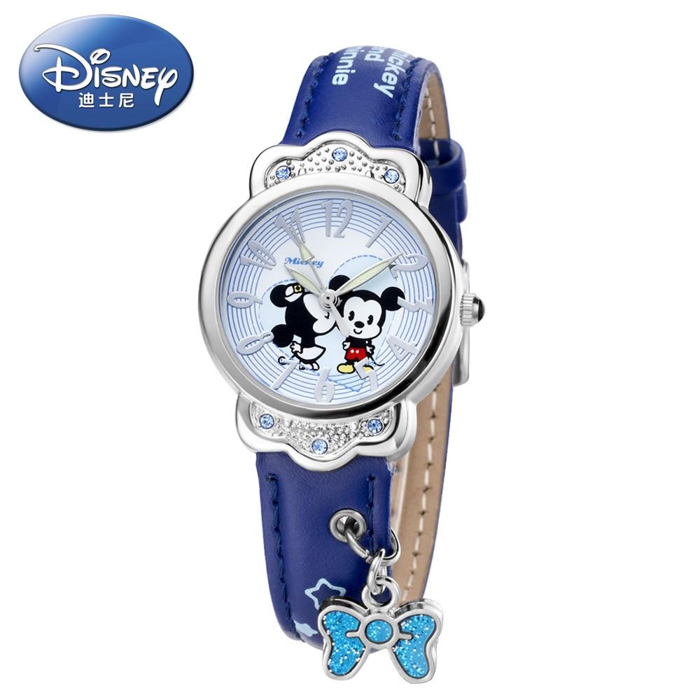 Disney brand Mickey Children s watches Boys girls 30m waterproof quartz watch kids watches Anime Cartoon