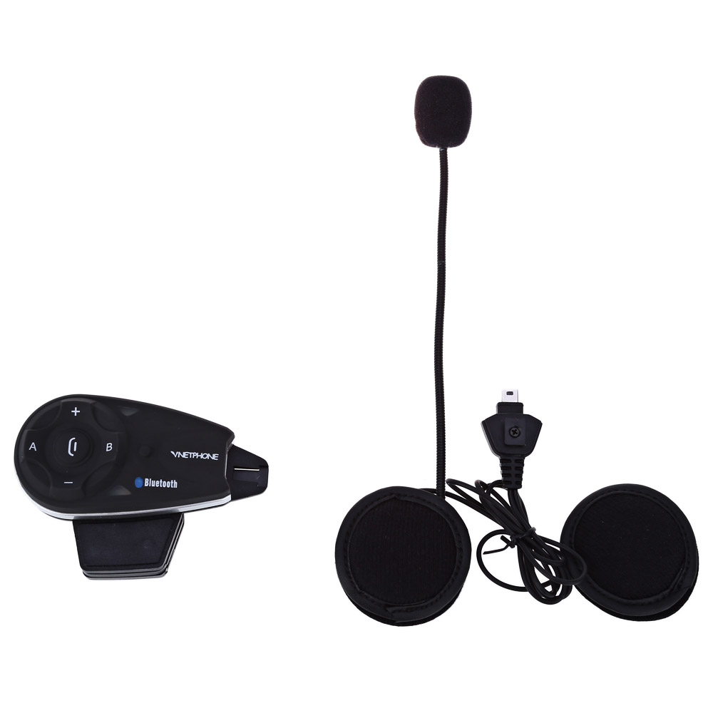 Super Long Distance! V5 1200M Bluetooth Motorcycle Helmet Interphone Full-duplex Intercom Headset Kit for 5 Riders vnetphone 5 riders capacete cascos 1200m bt bluetooth motorcycle handlebar helmet intercom interphone headset nfc telecontrol