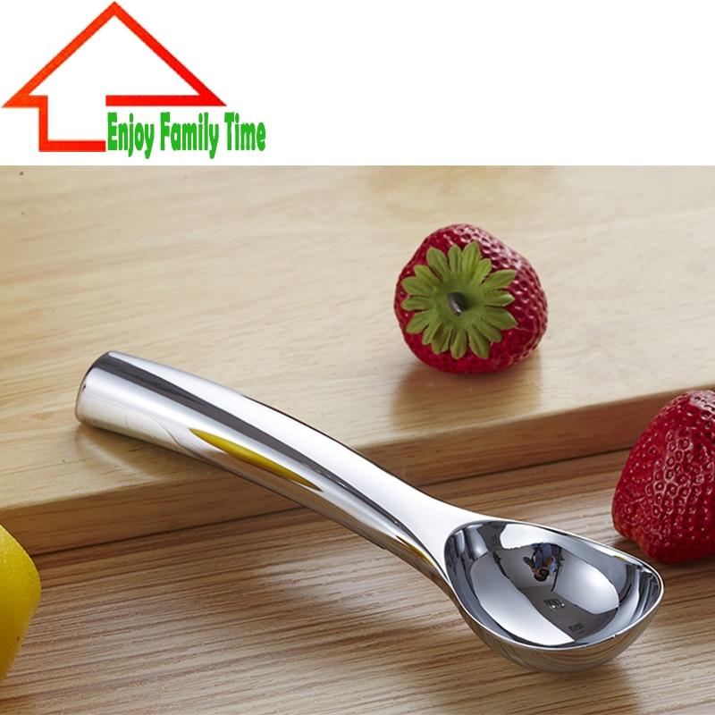 High Quality 1 Pcs Ice Cream Spoon Tools Heavy Duty High Quality Zinc Alloy Non-Stick Anti-Freeze Ice Cream Dipper Scoop