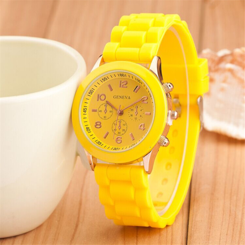 mujer silicone silicon wristwatches watch products reloj ladies watches sport cartoon quartz crystal transparent wrist novelty clock women casual