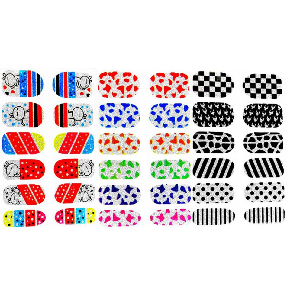 3 Types Nart Art Decoration Stickers Colorful Rabit Strips Pattern  Decoration Decals Ultra Thin Adhesive Nail Art Stickers