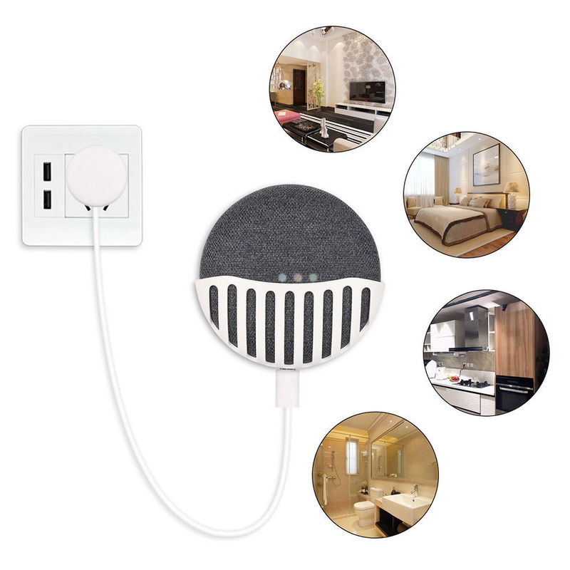 Wall Mount Stand Holder Kitchen Bedroom Wall Mount Holder Hanger Stand Grip For Google Home Mini Smart Assistant Smart Speaker