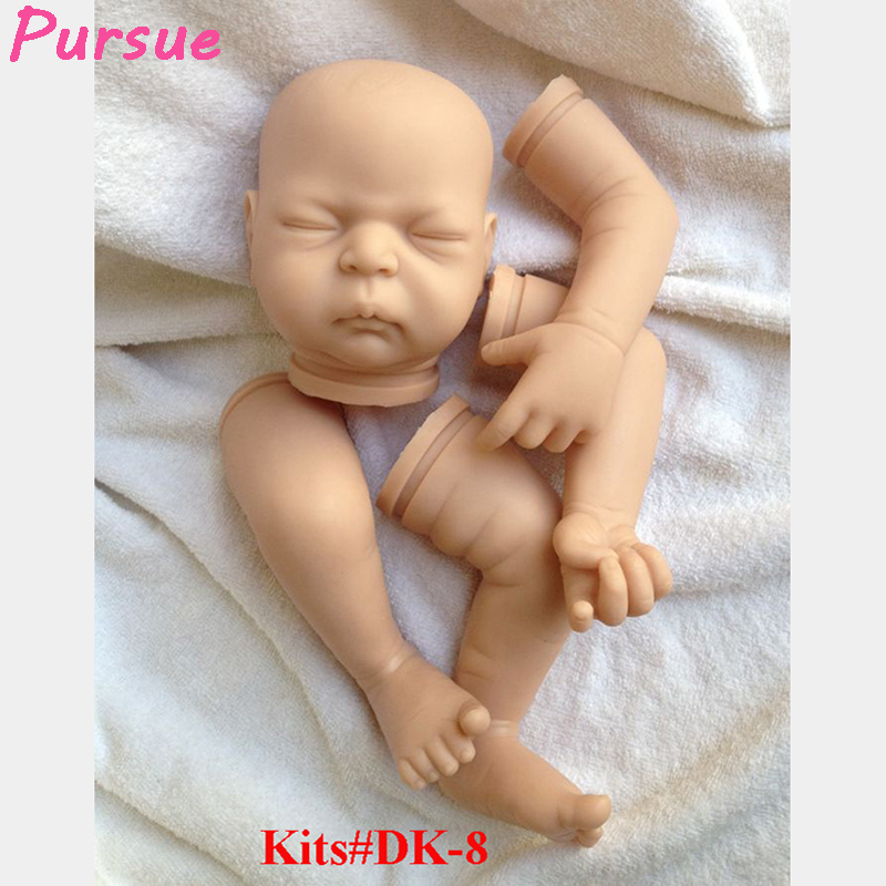 Pursue 21 Close Eyes Soft Vinyl Silicone Unpainted Reborn Doll Kits DIY Lifelike Sleep Art Baby for Handmade (head,legs, arms) lifelike soft vinyl unpainted reborn doll kits 11 inch full vinyl boy doll anatomically correct soft vinyl reborn doll kits