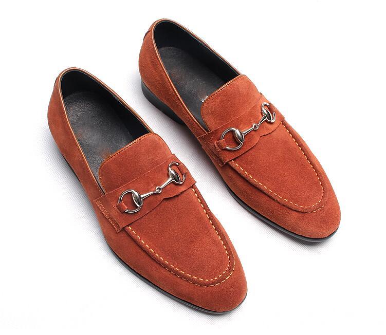78a3e1fc2a Casual Vestido Pisos Slip Elegante Pic as Cuero Pista Gommino Nubuck Zapatos  Auténtico Hebilla Hombre Hombres Negro as Mocasines Oxfords ...