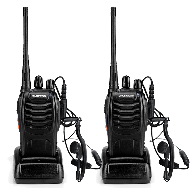 2 pz BaoFeng BF-888S Walkie Talkie UHF400-470MHZ Portatile Ham baofeng 888 s CB Radio comunicador BF-888S Ricetrasmettitore