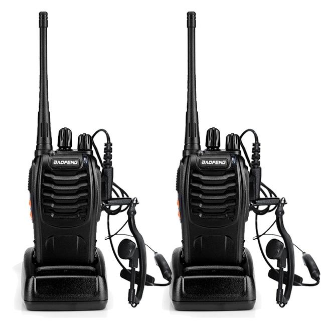 2pcs BaoFeng BF-888S Walkie Talkie UHF400-470MHZ Portable Ham baofeng 888s CB Radio comunicador BF-888S Transceiver