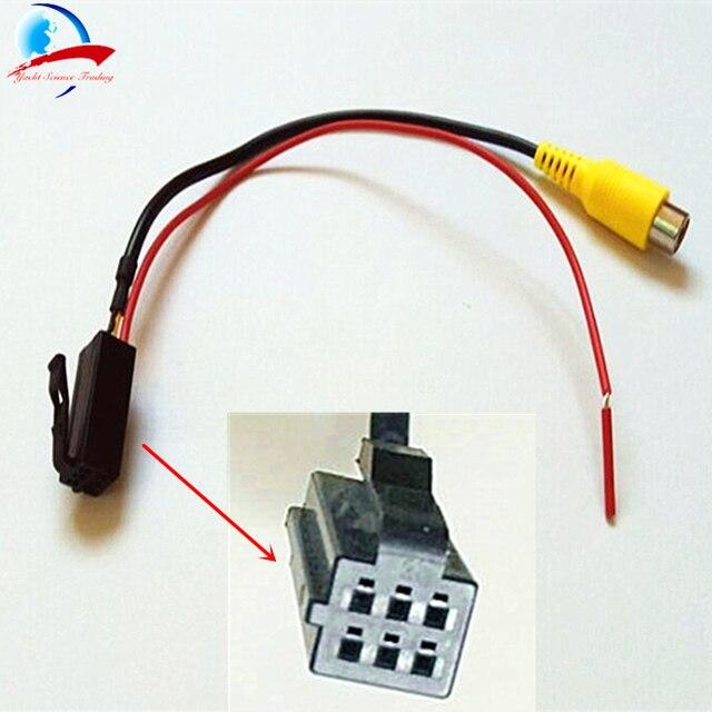 Cable adaptador de vídeo para cámara de visión trasera de navegación de DVD de coche para Caska