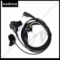 5r uv 3 חוט שני הדרך Surveillance רדיו האוזנייה ערכת אוזניות מיקרופון אוזניות צינור אקוסטית עבור Kenwood עבור Baofeng UV-5R (4)