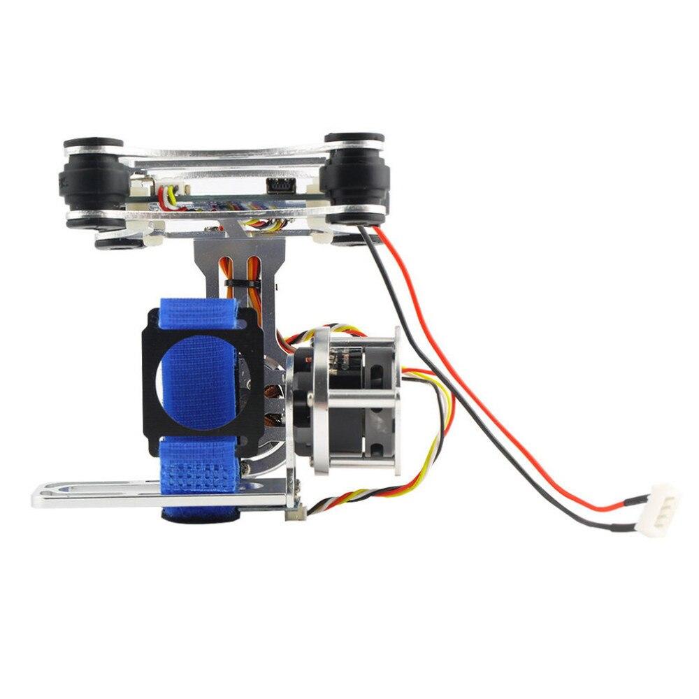 1pcs Super Light Brushless Gimbal Camera Frame+2 Motors+Controller 160G For Phantom Gopro 3 4
