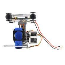 цена на Wholesale 1pcs Super Light DJI Phantom Gopro CNC Brushless Camera Gimbal W/Motors & Controller 160G