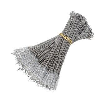 100 Pcs Stainless Steel Jerami Gelembung Boba Teh Cleaner Sikat Baja Minum Jerami Sikat Pembersih