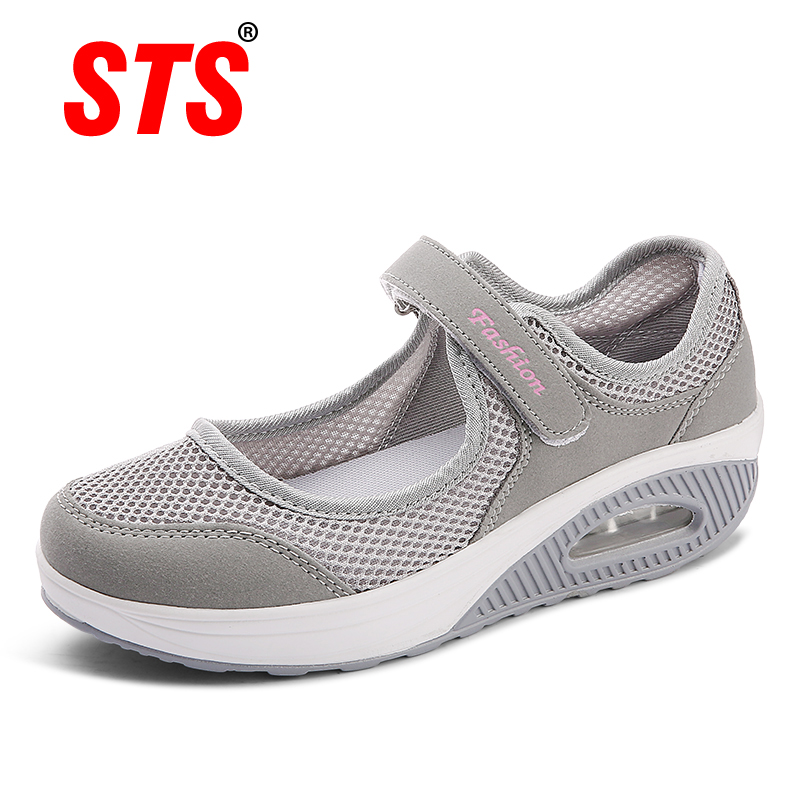 STS 2019 Summer Fashion Women Flat Platform Shoes Woman Breathable Mesh Casual Shoes Moccasin Zapatos Mujer Ladies Boat Shoes