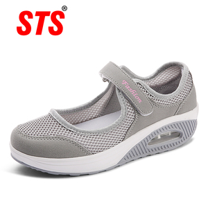 STS 2019 Summer Fashion Women Flat Platform Shoes Woman Breathable Mesh Casual Shoes Moccasin Zapatos Mujer Ladies Boat Shoes(China)
