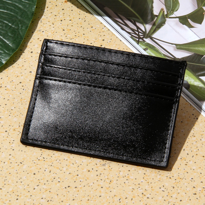 6 Card Bit Credit Card Holder Vintage Retro Texture Minimalist Wallet PU Leather ID Holders Business Credit Cardholder Cover floveme retro business pu leather wallet case cover handbag
