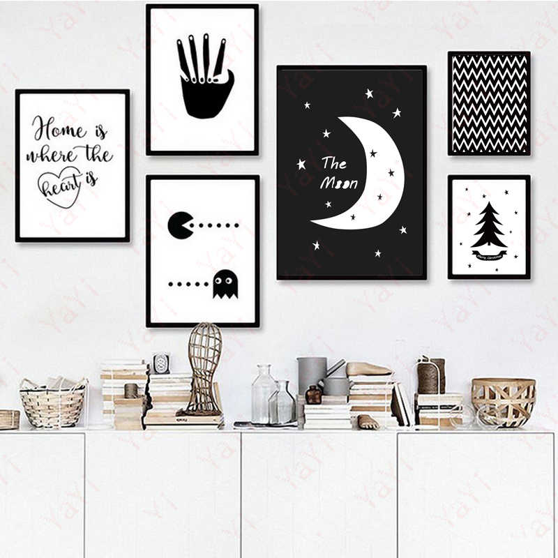 Abstract Moon Quotes A4 Art Poster Print Wall Picture Canvas Paintin Nordic Kids Room Deco No Frame Gifts