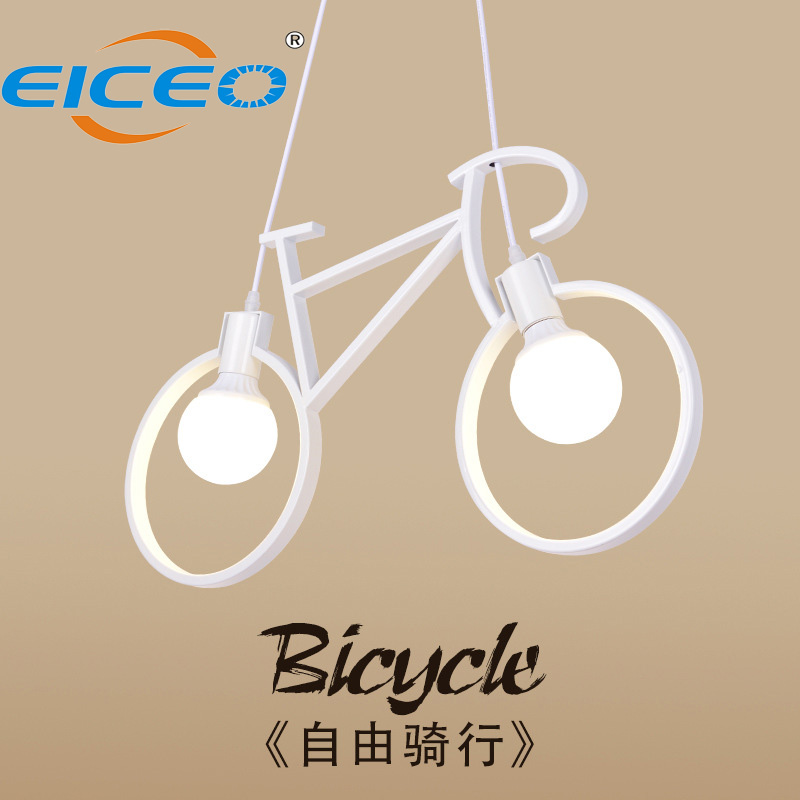 EICEO Retro Industrial Bicycle Lighting Restaurant Bar Internet Cafe Bedroom Study Creative Personality Iron Bicycle Chandelier creative birdcage restaurant iron personality simple cafe bar desk study american retro bird balcony chandelier led fixture led
