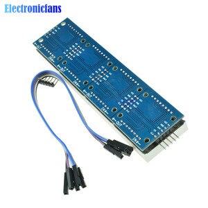 Image 2 - MAX7219 LED متحكم صغير 4 في 1 عرض مع 5P خط نقطة مصفوفة وحدة 5 فولت التشغيل الجهد لاردوينو 8x8 نقطة مصفوفة مشتركة