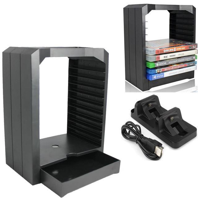 Universal Game Storage Tower Multifunctional 10 Games CD Holder Store For  Playstation 4 PS4 Slim Pro