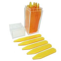 SHANH ZUN 30 ABS Желтый цвет пластиковый воротник остается, 5 размеров в пластиковой коробке