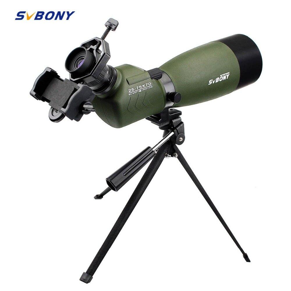 SVBONY 20-60x60/25-75x70mm Зрительная труба SV14 зум BAK4 45De угловой Birdwatch телескоп Монокуляр + телефонный адаптер F9310