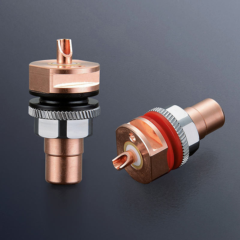 цена Free shipping Viborg 4pcs RC101 Pure Copper RCA Socket Solder Hifi RCA Female Socket