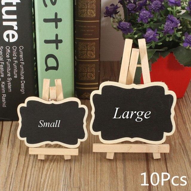 10pcs mini small wooden chalk blackboard wedding kitchen restaurant rh aliexpress com