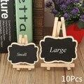 10Pcs Mini Small Wooden Chalk Blackboard Wedding Kitchen Restaurant Signs Chalkboard Writing Notice Message Paint Wood Board