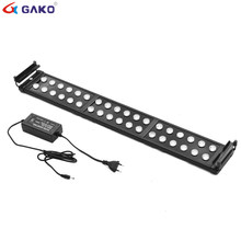 75~95cm 30W Aquarium LED Lighting Fish Tank Light Lamp with Extendable Brackets 24 White 12 Blue LED light for Aquarium plant(China)