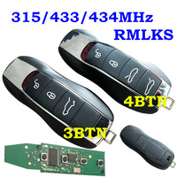 RMLKS New Replacement Remote Control Key Fob 3 4 Button Smart Car Key Full Complete Key 315 433 434 MHz Chip Key For Porsche Key