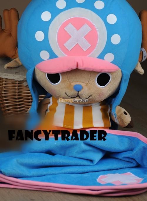 Fancytrader 16\'\' 40cm Copyrighted  Plush Stuffed Tony Tony Chopper with schoolbag & Towel FT90425 (10)