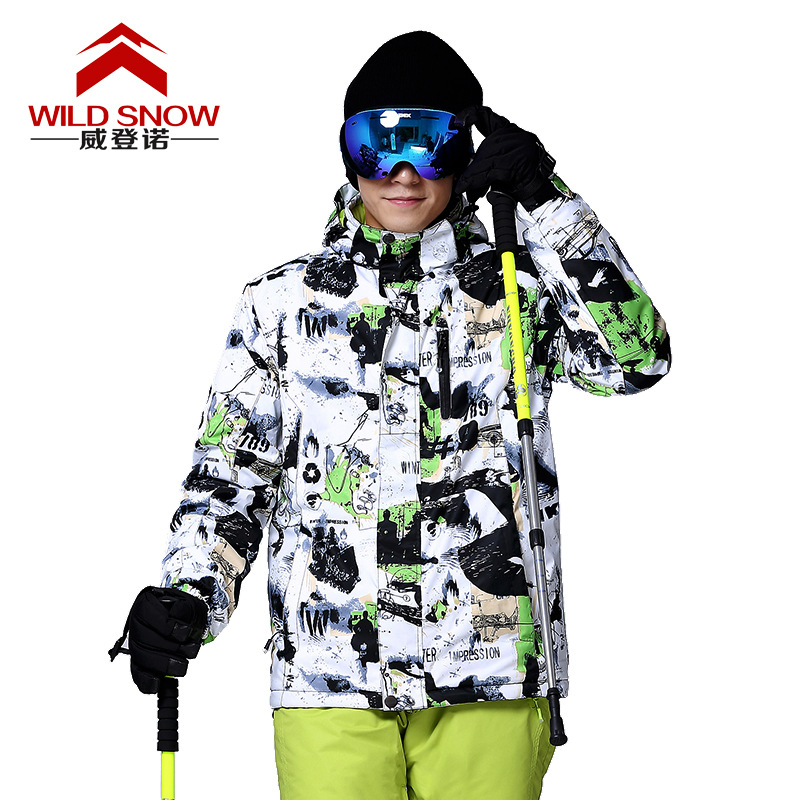 Men Ski Jacket Winter Snowboard Snowboarding Suit Thermal Men's Outdoor Warm Waterproof Windproof Breathable Clothes size M/XXXL unisex work jacket suit sets winter warm polyester cotton jumpsuit coveralls windproof size m l xl xxl xxxl xxxxl for choice