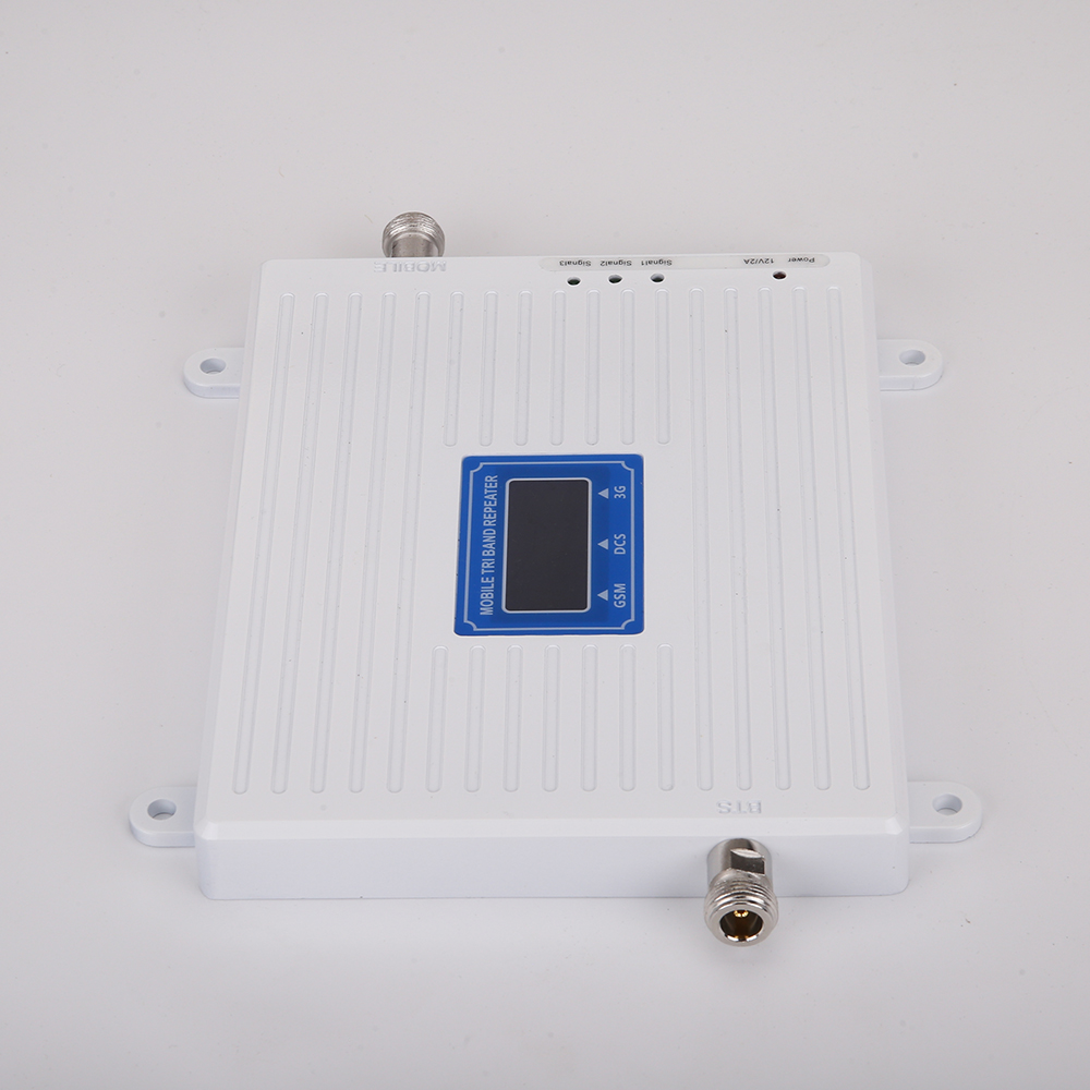 Image 2 - Hot Sale GSM WCDMA LTE UMTS 2g 3g 4g Mobile Phone Signal Booster 70dB 900 1800 2100 Tri Band Signal Repeater Unit-in Signal Boosters from Cellphones & Telecommunications