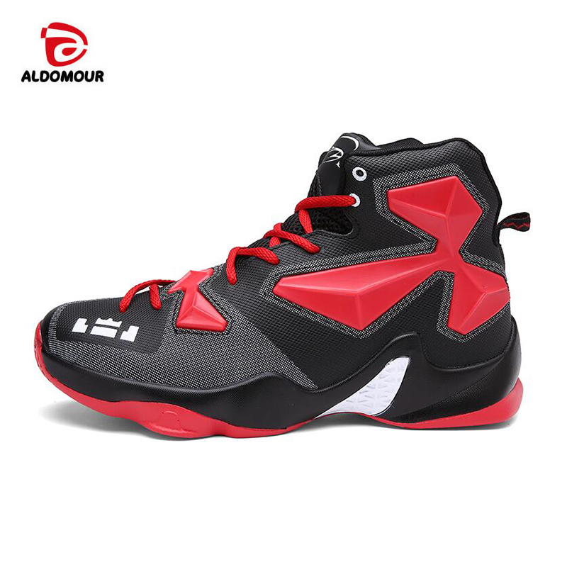 new styles ec5eb 1f919 ALDOMOUR Mens Boys Basketball Shoes Lebron James Shoes Plus Size36-45 Lace  up Sneakers Trainers  Chaussures de basket Nike ...