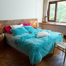 Руно пододеяльник мягкий синий фланель ткани для постельного белья пушистые наволочка постельное белье постельные принадлежности и постельное белье домашний текстиль