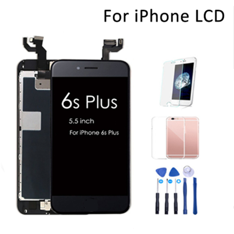 Full Set For iPhone 6s plus LCD Display Screen Digitizer Assembly Replacement For iPhone 6s Plus With Home Button&Camera image