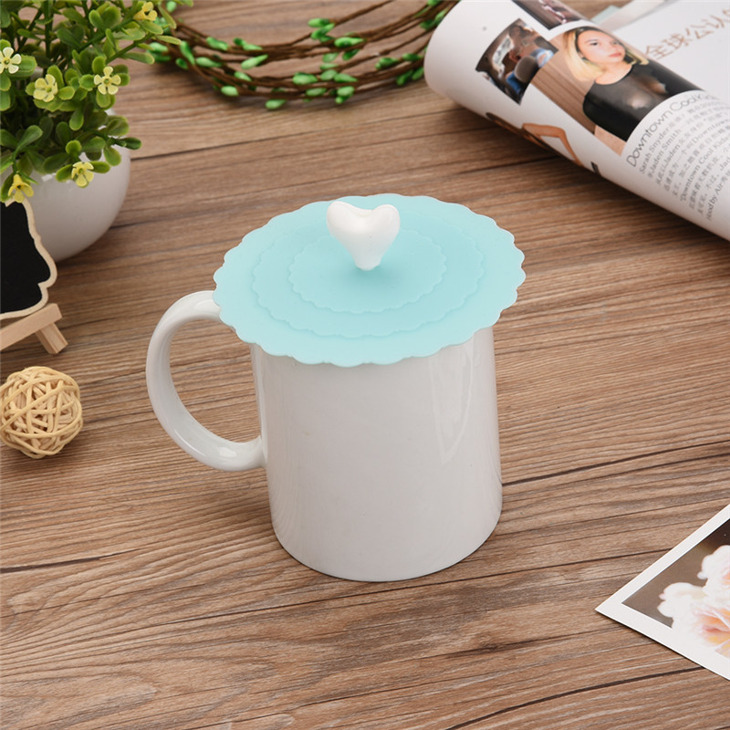 9 colors Creative Food grade Silicone Cup cute Anti dust Silicone Fruit Cup Cover Leakproof Coffee Lid Cap Sealed Cup Cover in Cookware Lids from Home Garden