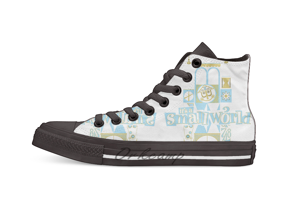 It's A Small World!  Novelty Design Casual Canvas Shoes Custom Shoes Drop Shipping