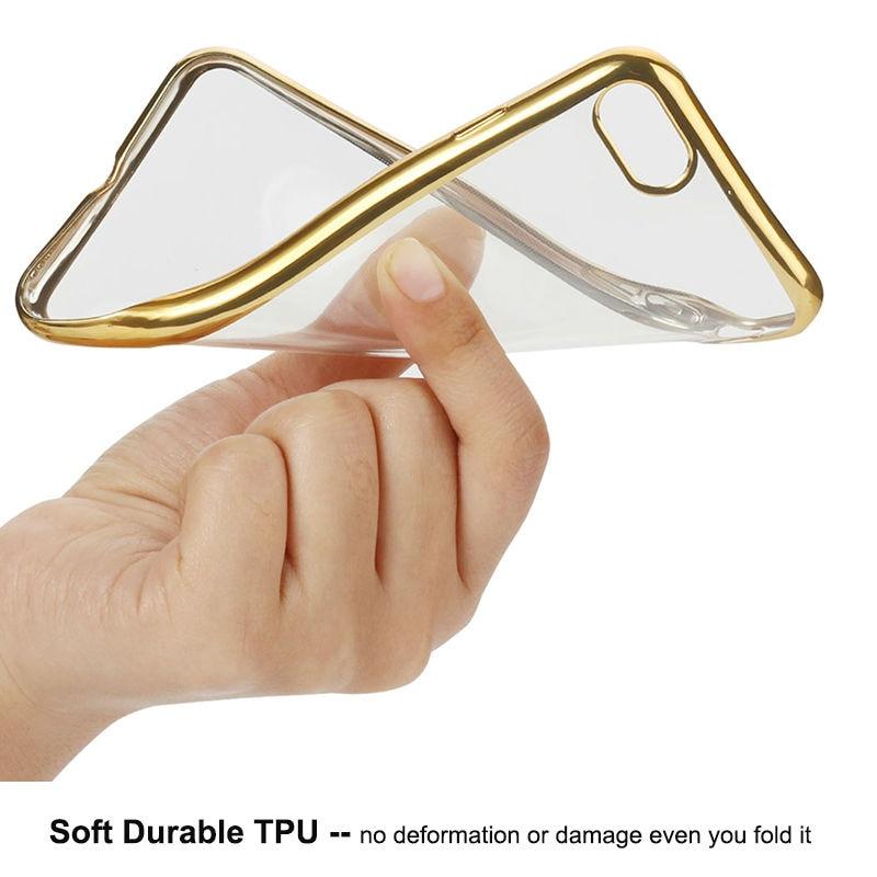 Plätering Transparent Mjukt TPU-fodral för iPhone 8 6 7 Fodral - Reservdelar och tillbehör för mobiltelefoner - Foto 6