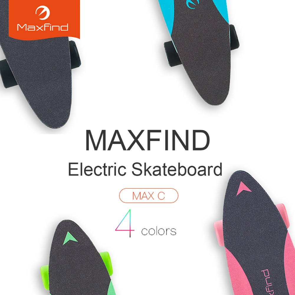 Image 3 - Maxfind electric skateboard four colors hub motor 3.7kg Lightweight 20KM/h 4 Wheel  Scooter Plate Skate Board-in Skate Board from Sports & Entertainment