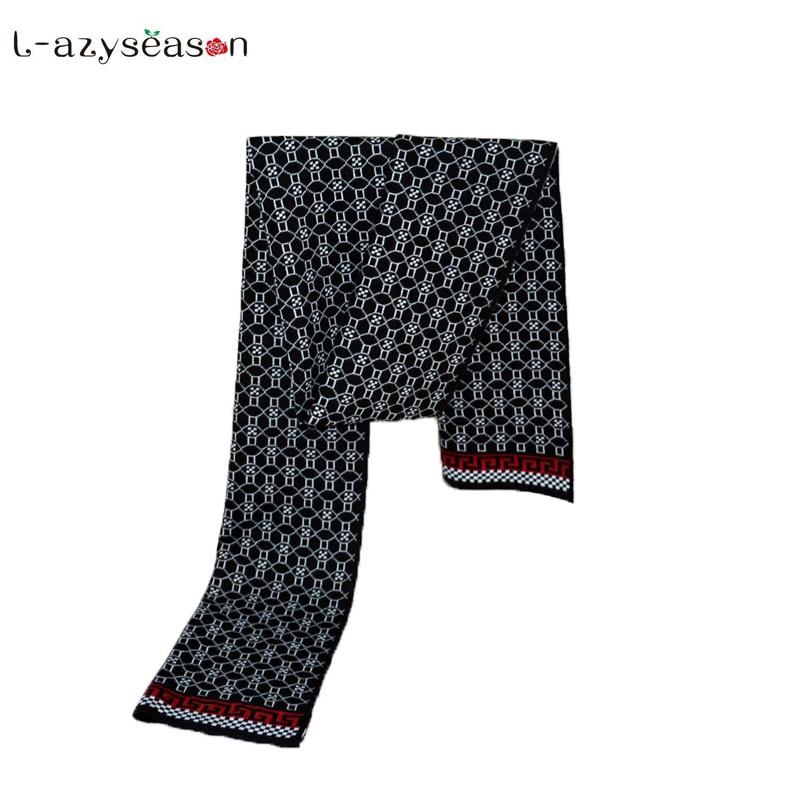 2018 Men winter scarf Luxury brand design shawls fashion designer thick wraps men business knitted thick warm cotton Scarves