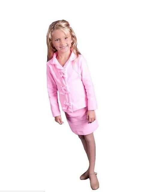 b55a8d56a443 US $77.63 30% OFF|2019 heißer Verkauf Süße Rosa Blau Rot Pegeant Interview  Kleider für Kleine Mädchen mit Langen Ärmeln Jacke und Kurze Mini ...