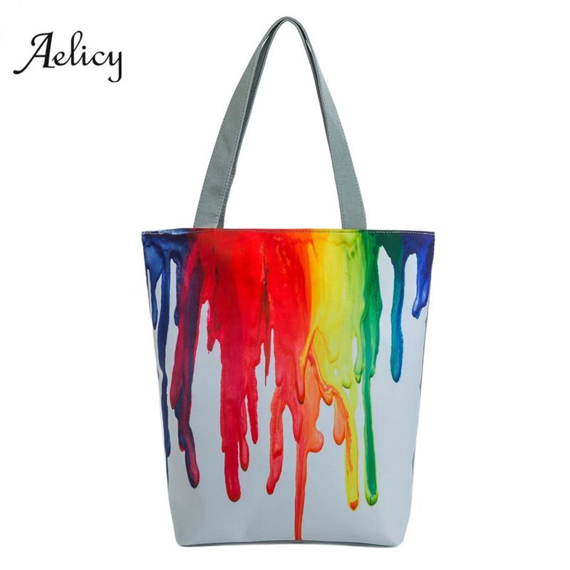 National Wind Canvas Tote Casual Beach Bags Women Shopping Bag Handbags 2018 New Design Handbag Cross Body