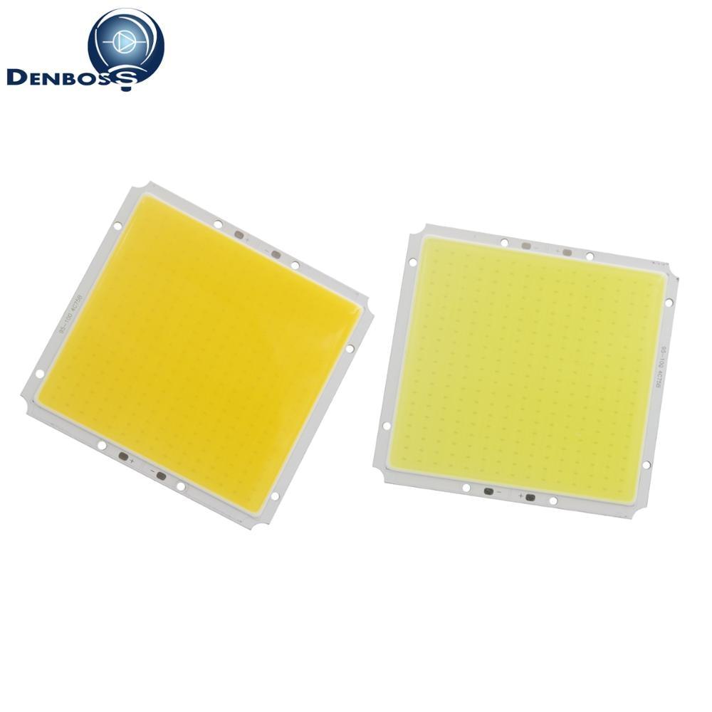 big promotion 10pcs 100x95mm 50W 12V DC Square LED COB Strip White Warm White LED FLIP Chip For Car Light COB led Strip lamp