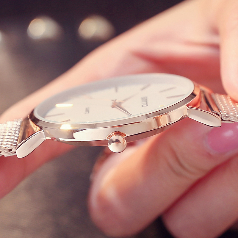 GIMTO Women Rose Gold Bracelet Watches Luxury Brand Quartz Lady Lovers Wristwatch Waterproof Male Female Clock  Relogio Feminino