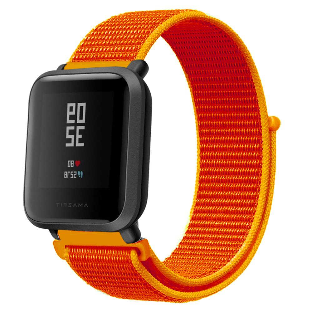 الملونة النايلون المنسوجة حزام (Watch) ساعة ملونة استبدال 20 مللي متر حزام ساعة ل Amazfit بيب ل شاومي Huami Amazfit بيس سوار