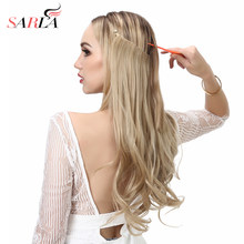"SARLA 50Pcs /Lot 20"" 50cm Wavy Flip in Wavy Hair Extensions Resist High Temperature Synthetic Hair Pieces No Clips No Glue M01(China)"