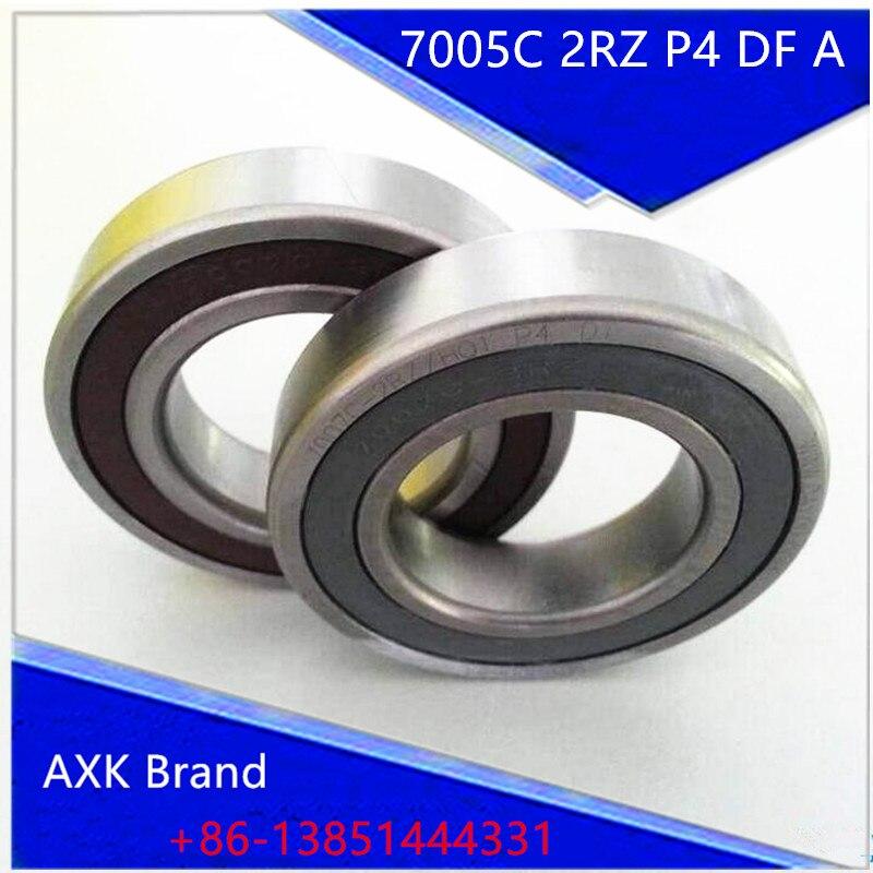 1 Pair AXK 7005 7005C 2RZ P4 DF A 25x47x12 25x47x24 Sealed Angular Contact Bearings Speed Spindle Bearings CNC ABEC-7 1 pair mochu 7005 7005c 2rz p4 dt 25x47x12 25x47x24 sealed angular contact bearings speed spindle bearings cnc abec 7