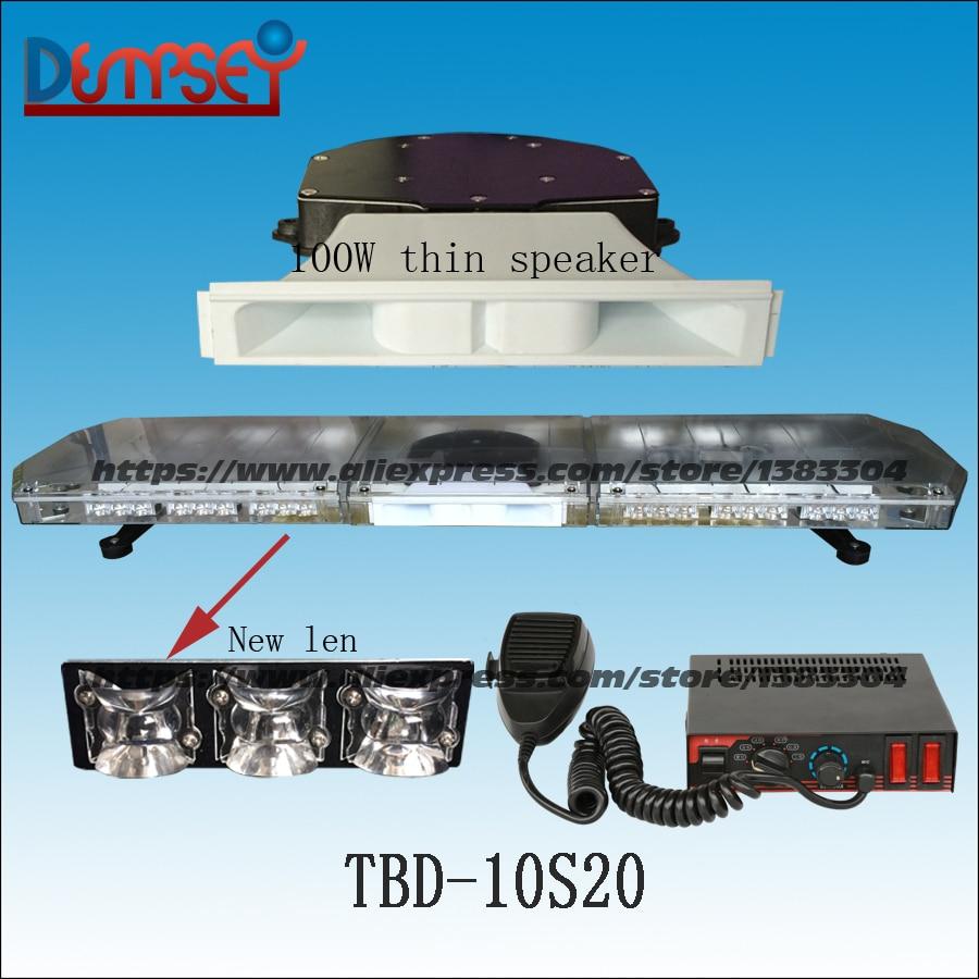 TBD-10S20 LED Emergency Warning Lightbar,New Len,Red/amber/white,fire truck/police/ vehicle,Roof strobe warning lightbars