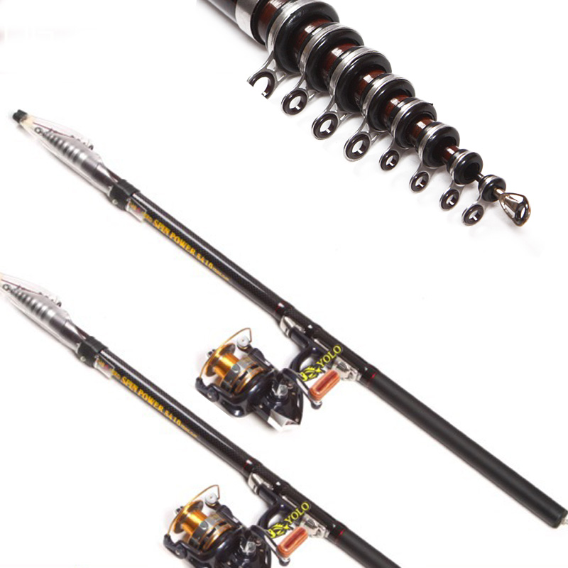 3.6//4.5//5.4//6.3m Carbon Fiber Telescopic Spinning Casting Poles Fishing Rods